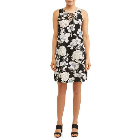 Women's Printed Lace Up Dress](Light Up Dress For Sale)