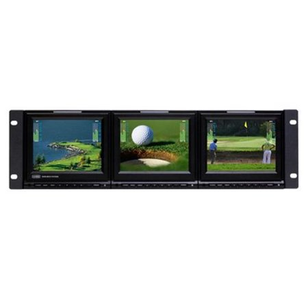 Ward-Beck Systems WARD-VMS560-3HD 5.6 in. Triple LCD Video Monitoring System ()
