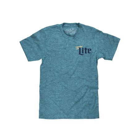 Licensed Old Milwaukee Beer (Tee Luv Miller Lite Milwaukee Wisconsin Beer T-Shirt )