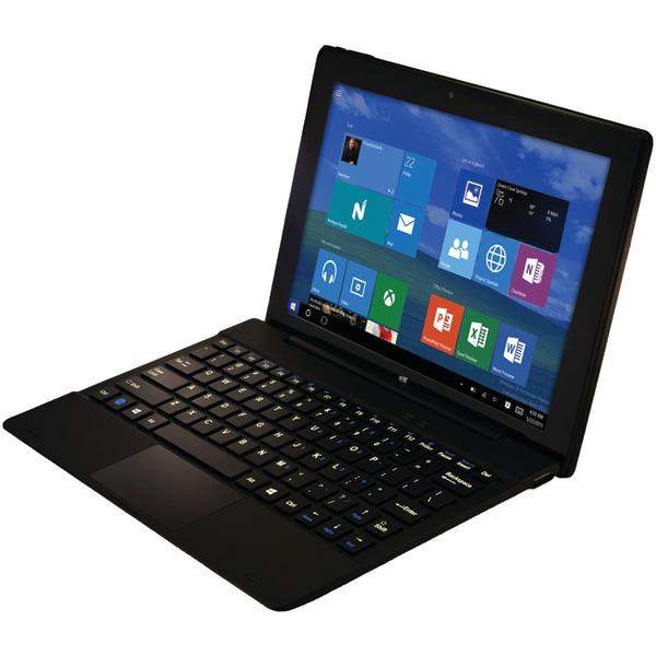 "PROSCAN PLT1090-K 10.1"" Windows(R) 10 32GB Tablet with 2-in-1 Hard Case & Keyboard"
