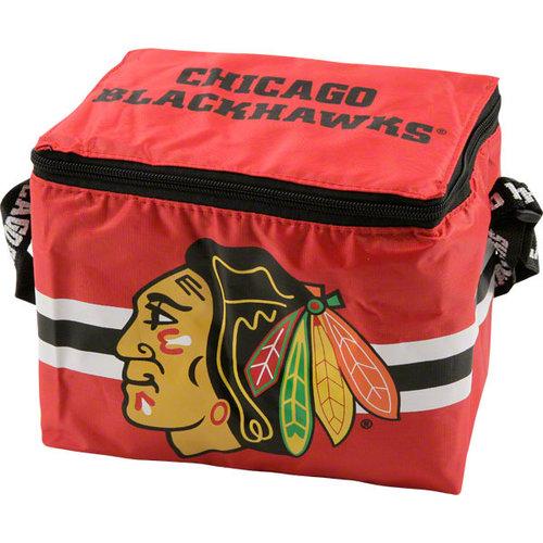 NHL - Chicago Blackhawks Lunch Bag: 6 Pack Zipper Cooler