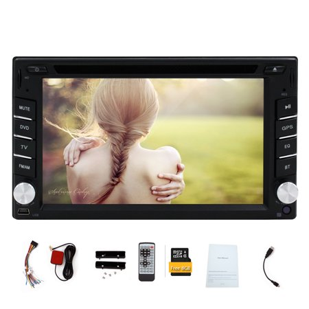 2016 Hot Sale Digital Touch Screen 6.2'' 2 Din Car DVD Player GPS Navigation Car Stereo build-in Bluetooth Car Radio Audio Video Player Supports FM AM RDS 8GB GPS