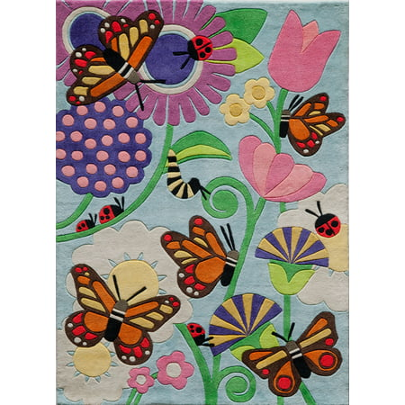 Momeni Lil Mo Whimsy Butterfly Area Rug](Butterfly Rug)