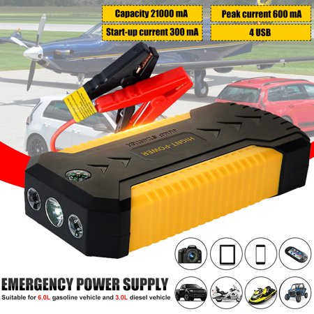 Multifunction Car Jump Starter Portable External Battery Boost with 21000Mah - Emergency Auto Heavy Duty Jump Starter For Truck, Van, SUV, Laptop and and More Heavy Duty Jump Starter