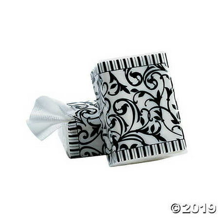Black & White Wedding Facial Tissue Packs - Party Themes & Events & Party Favors](Casino Theme Wedding)