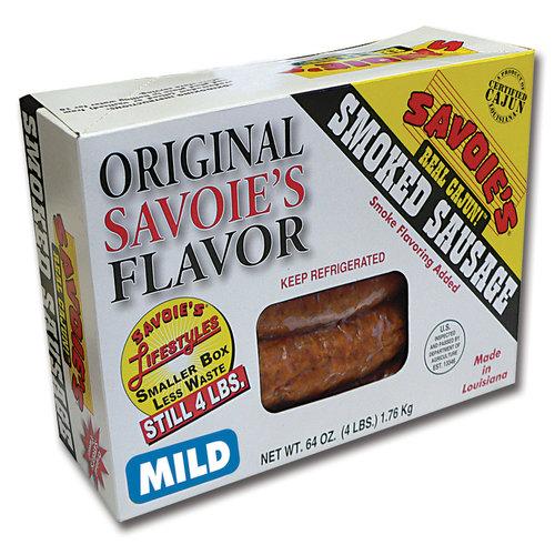 Savoies Mild Smoked Sausage, 64 oz