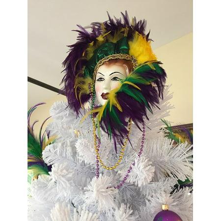 LAMINATED POSTER Holiday Fashion Mardi Gras Tree Decorations Poster Print 24 x 36](Mardi Gras Decorations)