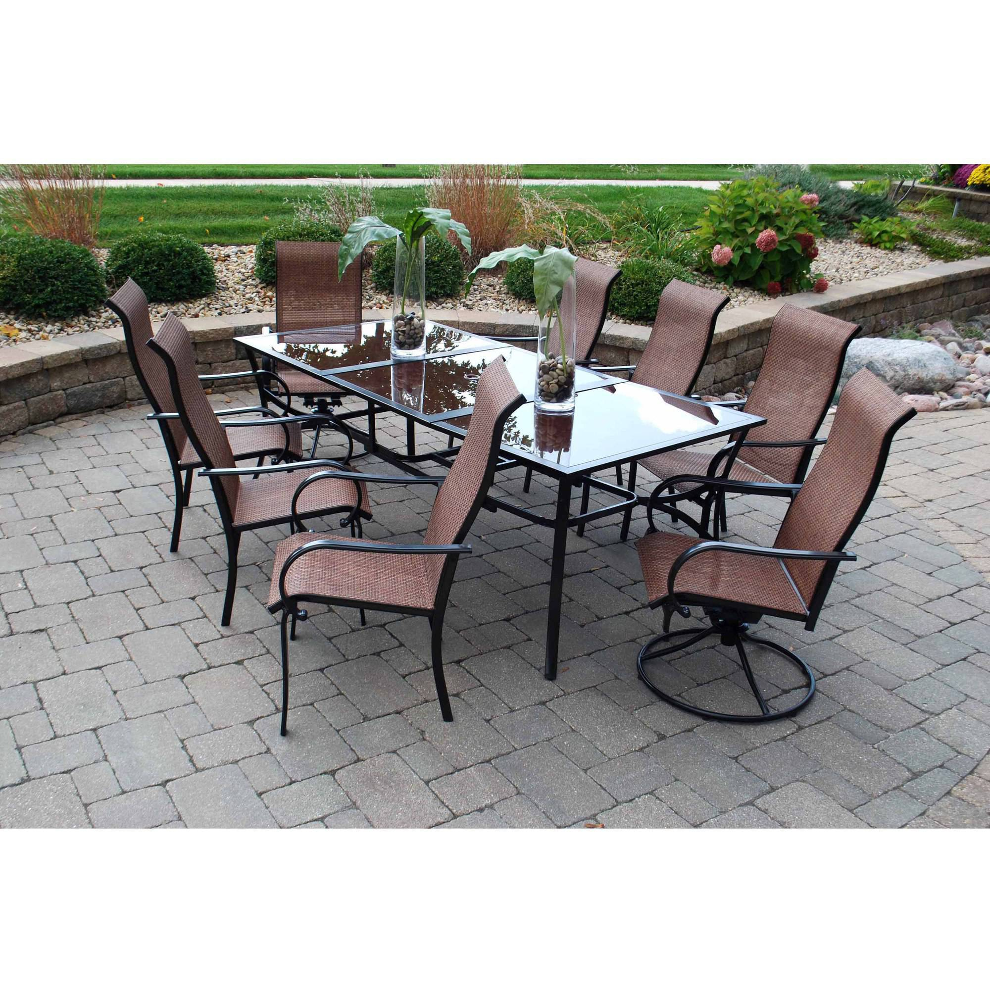 Cambria 9 Piece Patio Dining Set, Seats 8