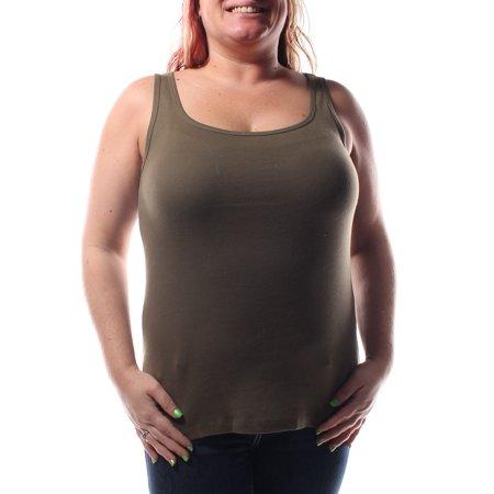 RALPH LAUREN Womens Green Sleeveless Scoop Neck Top Size M