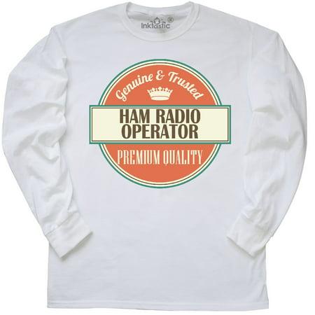Inktastic Ham Radio Operator Funny Gift Idea Long Sleeve T-Shirt Retired Job Tee