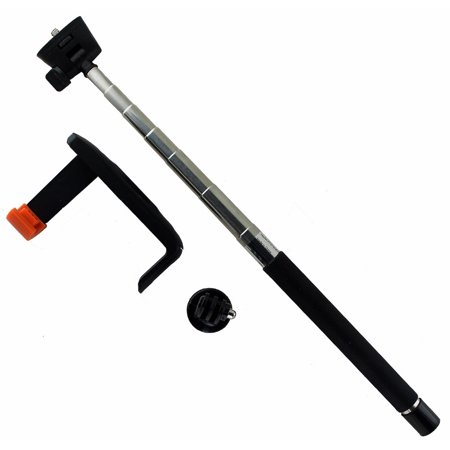 key wireless selfie stick with remote shutter and gopro adapter. Black Bedroom Furniture Sets. Home Design Ideas