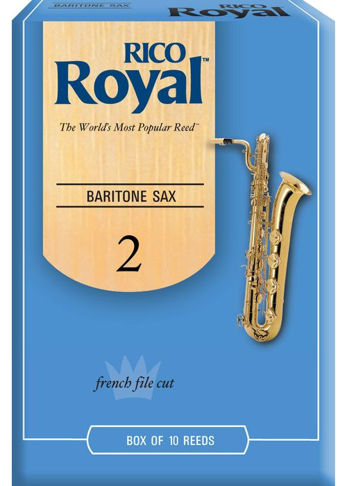 Rico Royal Baritone Saxophone Reeds 10 ct Size 2 by Rico Royal