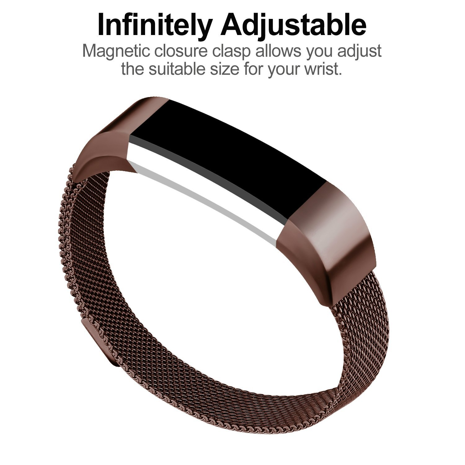 For Fitbit Alta Bands Alta HR Bands, Replacement Accessories Milanese Loop Stainless Steel Metal Bracelet Strap with... by iGK