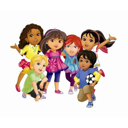 Dora And Friends Cake (Dora and Friends Edible Party Cake Image Topper Frosting Icing)