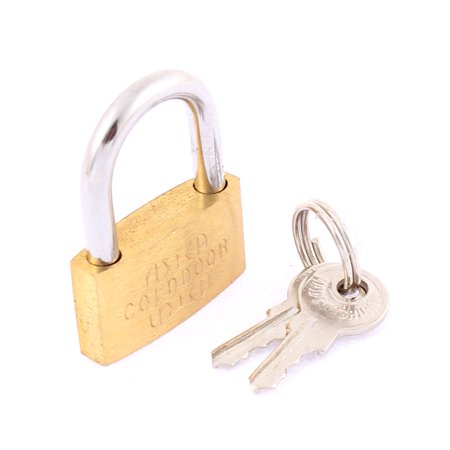 26mm Width Security Lock Drawer Cabinet Suitcase Padlock with key Jewellery Box ()