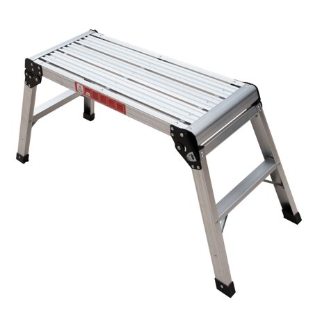 Zimtown Drywall Step Up Folding Bench Stool Ladder