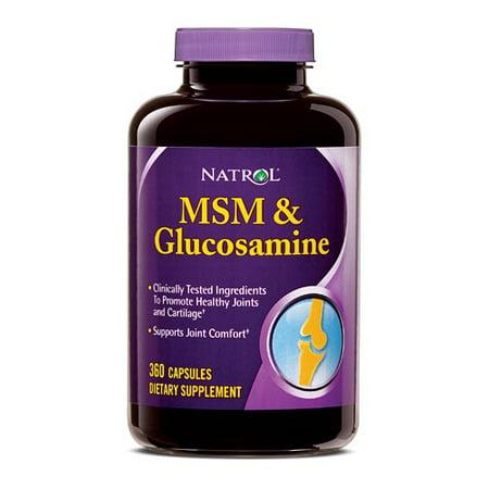 Natrol MSM et Glucosamine Capsules, 360 Ct