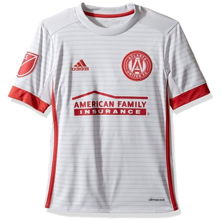reputable site fd65d 4919a MLS Atlanta United Youth Unisex Replica Wordmark s/jersey, Light Grey, Small