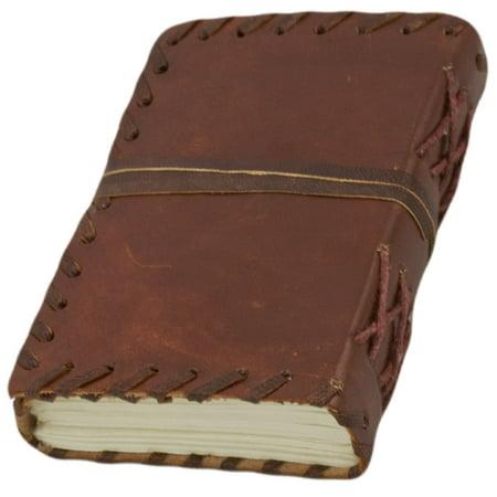 Leather Bound Classic Pocket Notebook (Dark Brown) (Leather Bound Notebook)