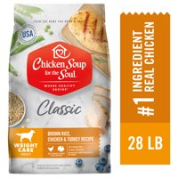 Chicken Soup Weight Care Dry Dog Food - Brown Rice, Chicken & Turkey Recipe (Various Sizes)