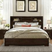 Roundhill Furniture Montana Bookcase Platform Bed