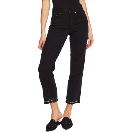 Vince Camuto Womens High Rise Denim Cropped Jeans