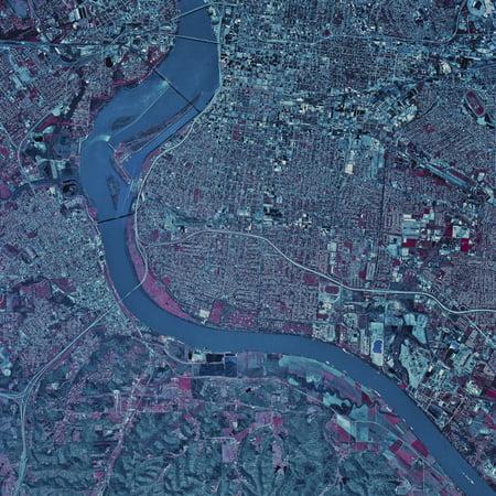 Satellite view of Louisville Kentucky Poster Print on google maps kentucky, road map kentucky, mapquest kentucky, moon maps kentucky,