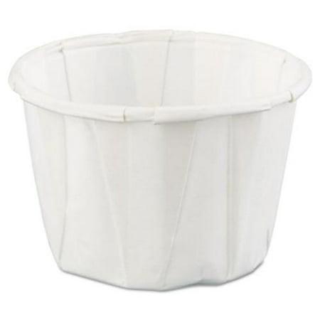 Gen-Pak F100--- Squat Paper Portion Cup, 1oz, White, 250/bag, 20 Bags/carton Squat Paper Cup