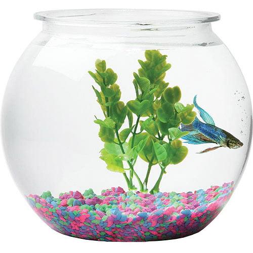 "Hawkeye 1.5-Gallon Fish Bowl, Impact-Resistant Plastic, 9"" Diameter x 8"" High"