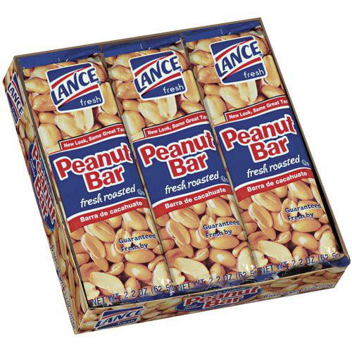 Lance Fresh Roasted Peanut Bar, 2.2 oz, 6 count