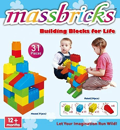 Massbricks 31 Piece Building Block Set 840311000494
