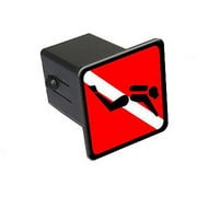 "Scuba Dive Diving Flag Sign Symbol 2"" Tow Trailer Hitch Cover Plug Insert"