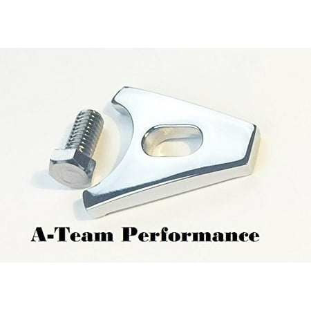 Chrome Distributor Hold Down Clamp - A-Team Performance 4116 Chevrolet Distributor Hold-Down Clamp Chrome Chevy/GMC SBC BBC