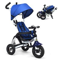 Costway Foldable 6-in-1 Baby Tricycle Stroller with Canopy