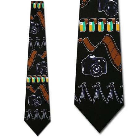 - Photography big stripe (Black) Necktie Mens Tie