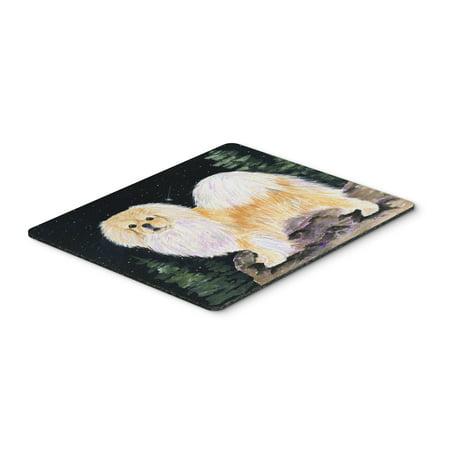Starry Night Tibetan Spaniel Mouse Pad / Hot Pad / Trivet