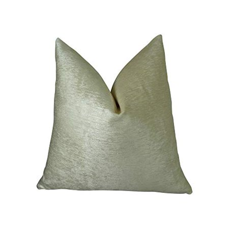 """Plutus Hidden World Silver Handmade Throw Pillow, (Double sided 22"""" x 22"""") - image 2 of 4"""