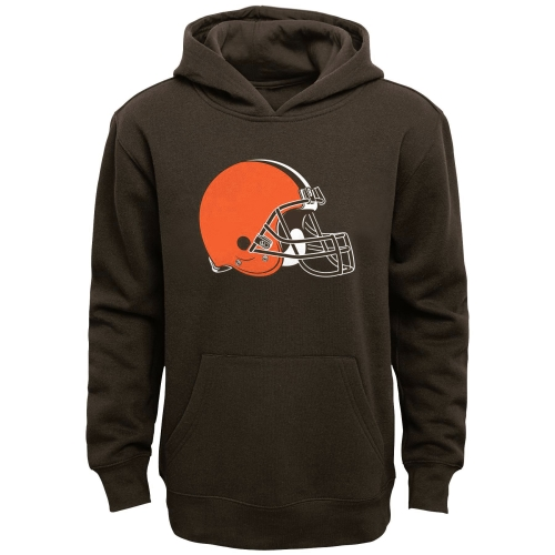 Cleveland Browns Youth Team Logo Pullover Hoodie - Brown