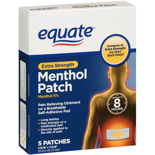 Equate Extra Strength Menthol Patch, 5ct