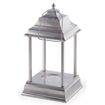 """13"""" Decorative Brushed Nickel Traditional Colonial Style Bellaroma Carriage Candle Warmer Lantern"""