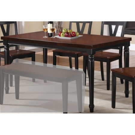 Cherry Wood Table (Benzara Classic Beauty Rubber & Acacia Wood Dining Table, Cherry, Black )