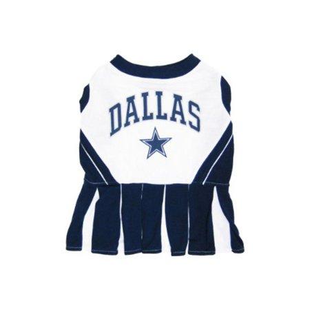 Dallas Cowboys Pet Cheerleader Uniform Extra Small, 100% cotton By Pets First,USA (Dallas Cowboys Cheerleaders Uniforms)