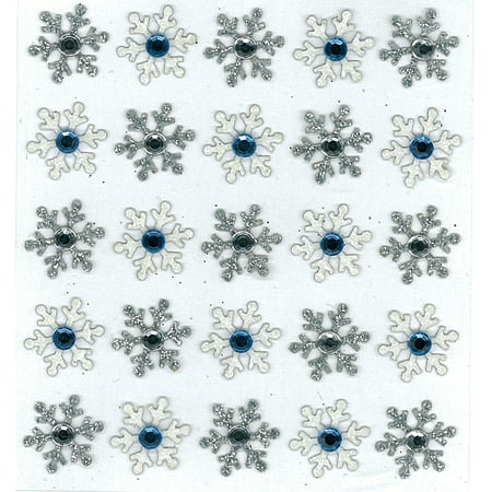 Embroidered 3 D Stickers - Jolee's Boutique 3D Snowflake Stickers, 25 Piece