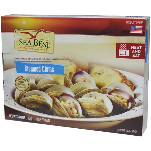 Sea Best Steamed Clams,12 count, 3.88 oz