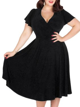 00aa8378d5 Product Image Women Plus Size Short Sleeves Dress Summer Evening Party  Cocktail Dress