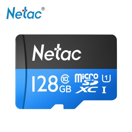 Netac P500 Class 10 128G Micro SDXC TF Flash Memory Card Data Storage High Speed Up to
