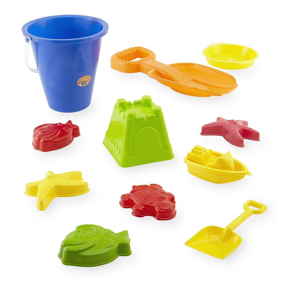 Sizzlin' Cool 11-Piece Beach and Garden Set, Contains brightly colored toys and molds By Toys R Us Ship from US by
