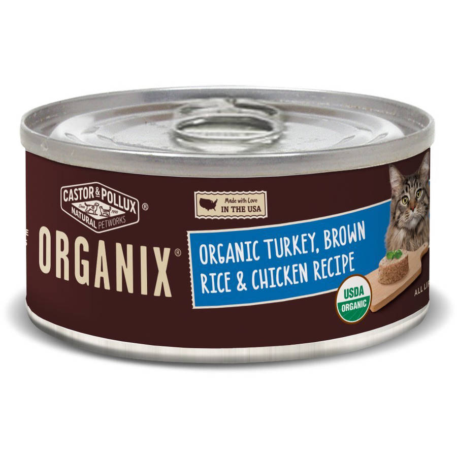 Castor & Pollux Castor and Pollux Pollux Organix Feline Formula Turkey Brown Rice Chicken, 3 oz, 24 - Pack