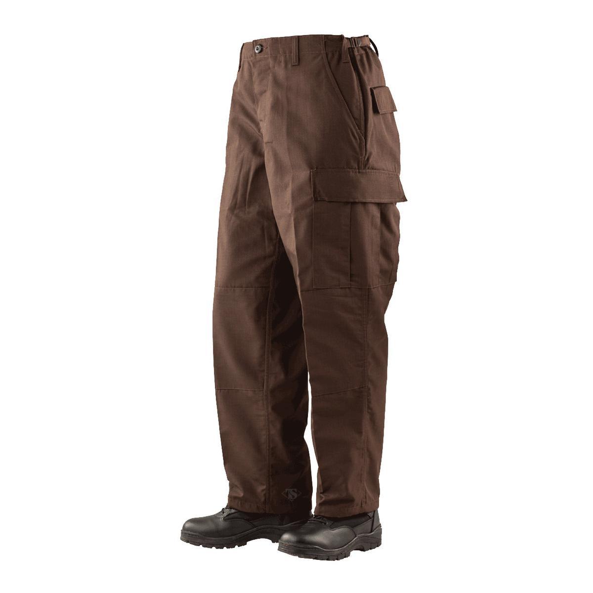 Tru-Spec 1343 Mens BDU Pants, Poly/Cotton Rip-Stop, Brown