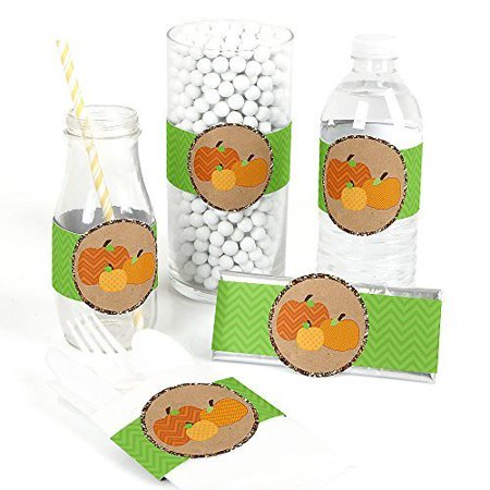Pumpkin Patch - Fall & Halloween Party DIY Party Wrapper Favors - Set of 15](Halloween Diy Games)